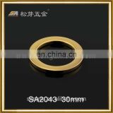 2016 High Quality Gold Plated O Ring Buckle Fitting For Leather Goods, Customized Metal O ring Fittings