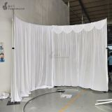 10ft diameter half round pipe and drape system half circle wedding backdrop