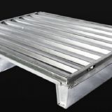 Solid Corrugated Plate Steel Pallet  Free Fumigation Galvanized Customized Warehouse Storage High Loading Pallet
