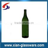 Green bordeaux wine bottle