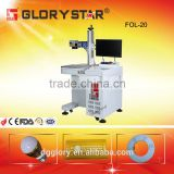 laser marking metal LED bulbs rubber plasticphone pad FOL-10/20 CE SGS fiber laser marking machine for sale