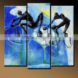 home art decor Artwork sport bicyclist rider bike oil painting