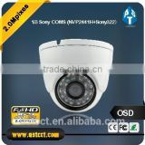 1080P sony 322 ahd camera with metal housing mini dome camera ir distance 20m with 3.6mm fixed lens 2.0MP cctv camera
