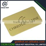 hot selling products china supplier laser cut metal business card metal card matte black metal business card