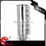 High quality drinkware double wall glass stainless steel tumbler for coffee tea and water