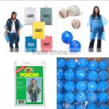 Wholesale PE Emergency Disposable Rain Poncho With Keychain Ball                                                                         Quality Choice