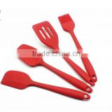 (DCS-ST068) 4 Pieces Silicon Kitchen Utensil of Butter Knife and Spatula and Turner and Brush