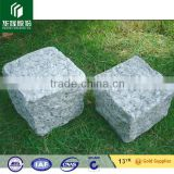 Chinese cheap granite cobble stone light grey, beige, black, red colors cobble stone, kerbstone 10x10