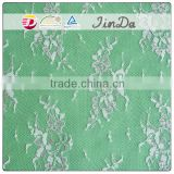 Fujian lace manufacturer colorful metallic silver foil lace fabric