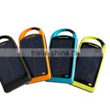 Design Patent Wholesale High Quality Solar Charger Waterproof Solar Charger Solar Power Bank 8000mAh For Iphone Smart phones.