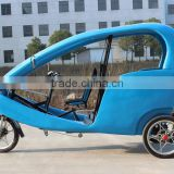 JOBO 48V 1000W Electric Pedicab Tricycle Rickshaw for Passenger,Velo Taxi