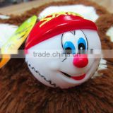 vinyl ball tennis ball pvc 7.5cm,louder squeaker,pet toy,pet,lovely design and soft material