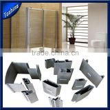 Is alloy or not 6000 series grade T3-T8 shower room applicaton silver polished Aluminum extruded profile