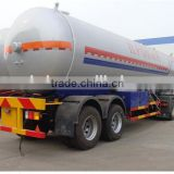 High quality 56000 l lpg tank trailer, tri-axle propane trailer , propane gas tanker trailer