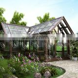 Luxurious triangle roof aluminum alloy sun room/glass house/greenhouse more change