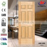 JHK-006 Beautiful Wood Grain Certificate JAS Hospital Project Simple Interior Door Brich Veneer Molded Door Panel