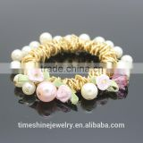 High quality wholesale acrylic pearl beads charm bracelet