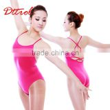 D004853 Sleeveless thong leotard girls gymnastics leotards