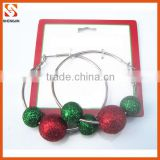 wholesale custom made handmade christmas bell earrings