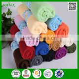 Shanghai softex solid colourful micro fiber cleaning cloth microfiber
