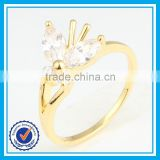 Factory direct sale crystal gold walmart engagement rings for bridal