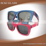 Middle of aluminum Wood frame sunglasses