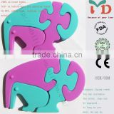silicone elephant teether silicone teething jewelry silicone pendant teether
