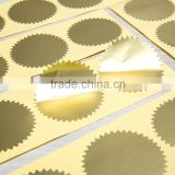 AVERY matte gold foil special shape vinyl eggshell sticker labels printing
