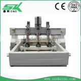 Cylinder Engraving Machinery for 3d wood stone marble columns sofa legs stair handrail and statue
