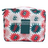 Attractive color multi pocket cute portable cosmetic bags for girls