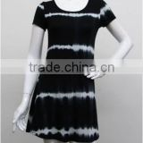 jiangxi lovewear 16 latest design Tie dye casual dress 95 rayon 5 spandex tops                                                                         Quality Choice
