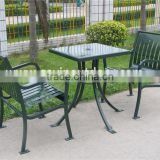 Powder coated outdoor metal umbrella table outdoor picnic table and chairs                                                                                                         Supplier's Choice