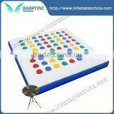 4 Player Giant Twister Game for Adults,Square Inflatable Twister Game