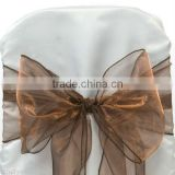 ORGANZA BOWS CHAIR SASH BOWS COVER FOR WEDDING DECOR ANNIVERSARY PARTY SASHES BOW