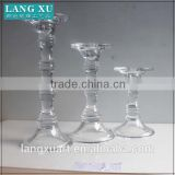 long-stemmed crystal glass bamboo candle holder