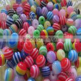 20mm stripe resin plastic beads for necklace jewelry making                                                                         Quality Choice