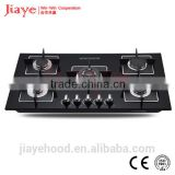 Built-in tempered glass gas stove / 5 burners with square cast iron pan supports hobs JY-G5026