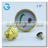 High quality 1.5 inch brass back connection propane pressure gauge