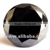 Real Loose Black Diamond Round Brilliant Cut