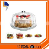 LANYI Factory Sale OEM Food Grade Plastic Cake Stand with Cover