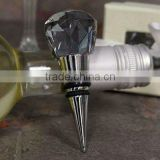 crystal glass gray wine stopper for gift