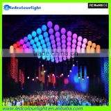 2015 color changing dmx winch kinetic lights led ball RGB DMX led lift ball
