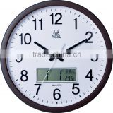 Pearl Wall Clock PW288 With LCD display month date day temperature