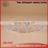 China factory beauty miss world tiara with fashion design hot sale rhinestone crown