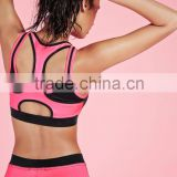 Fashion Gym Sports Bra Contrast Binding Workout Crop Top