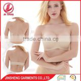 China one piece sex school girl lingerie silicone seamless ladies used bra transparent straps used