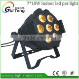 7*10W Led Par Light RGBW DMX512 7 Channels Mini Led Par Lighting,Good Cooling Aluminum Case Led Par Can