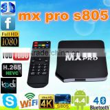 Android 4.4.2 Amlogic S805 MX pro Quad Core 4 GPU Support wifi 1G/8G XBMC Miracast DLNA Smart TV Box power android tv box smart
