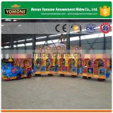 Cheap amusement park train ride used outdoor playground equipment trackless train for sale