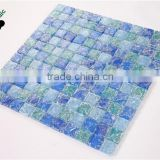 SMS14 300x300mm mosaic Blue crystal glass mosaic for swimming pool tile
